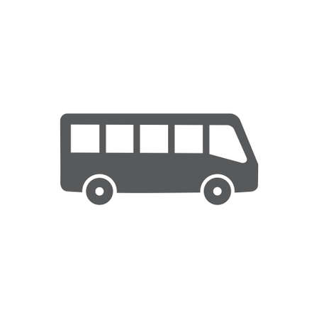 Bus vector icon on white