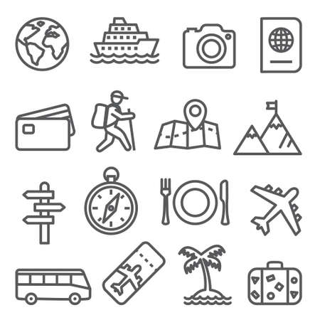Travel and tourism line icon