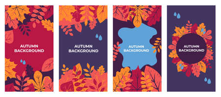 Autumn background Autumn leaves for