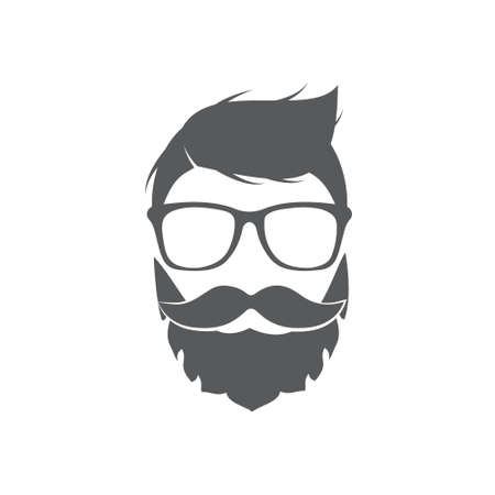 Hipster icon on white background