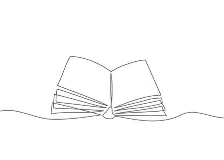 Book One line drawing Vector