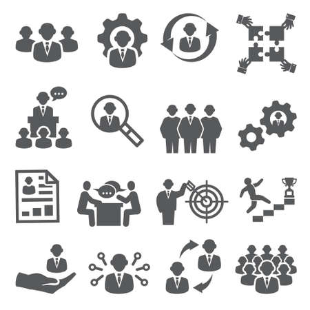 Employee icons Business and Management