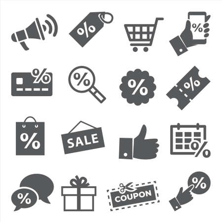 Promotion and coupon icons on Illustration