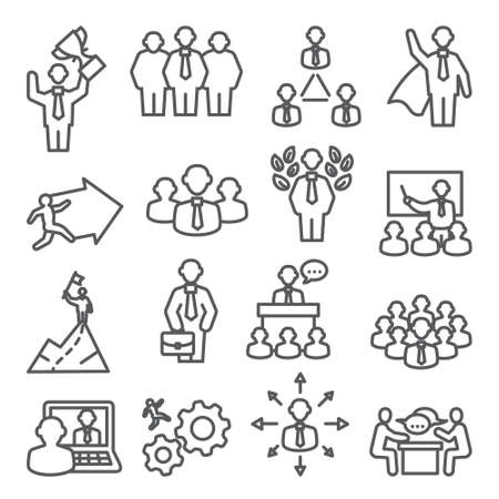 People line icons Vector set Illustration