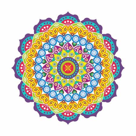 Flower Mandalas. Vintage decorative elements. Oriental pattern, vector illustration. Islam, Arabic, Indian, turkish, pakistan, chinese, ottoman motifs - Vector Illustration