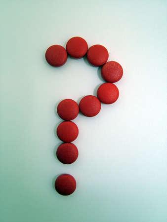 Question mark pills Stock Photo - 3192720