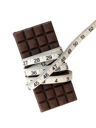 'tape measure': Chocolate and tape measure