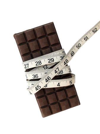 cinta de medir: Chocolate y cinta m�trica