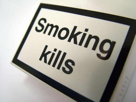 cigarette pack: Smoking kills
