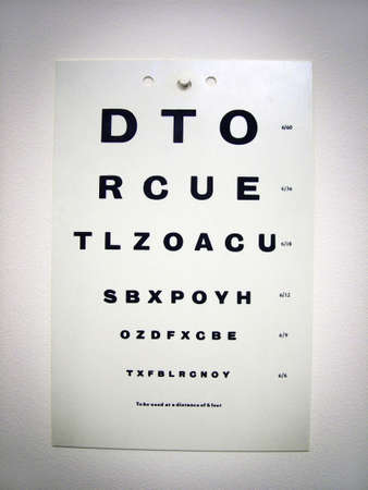 Eye test chart Stock Photo - 3192759