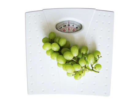 Grapes on weighing scales
