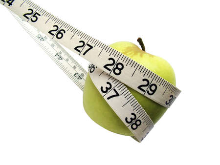 Tape measure around apple Stock Photo - 3192780