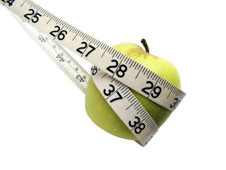 Tape measure around apple Stock Photo - 3192780