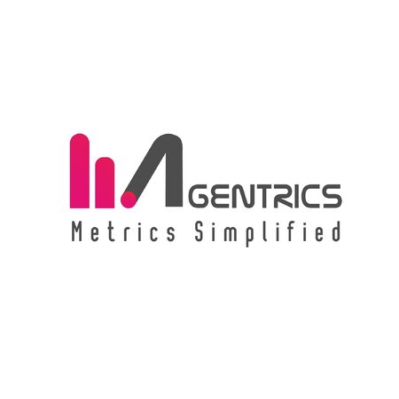 Magentrics word mark logo Illustration