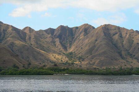 Volcanic island in tropical sea