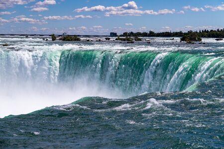 Niagara Falls Horseshoe Falls on summer day