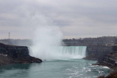 Wide shot of Horseshoe Falls in Niagara Falls