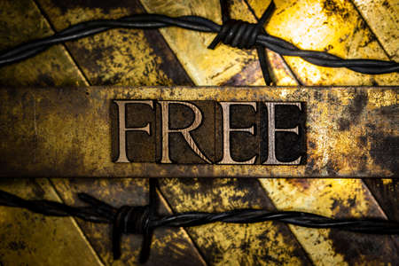 Free text message on vintage textured grunge copper and gold background Stockfoto