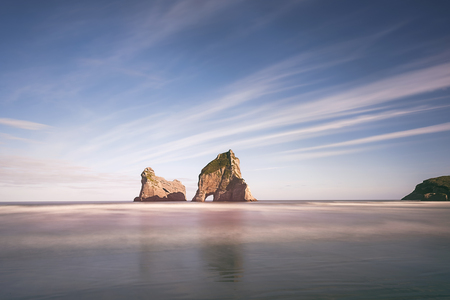 aotearoa: wharariki beach, Top of south new zealand