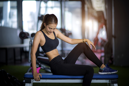woman exercise active in gymnasium