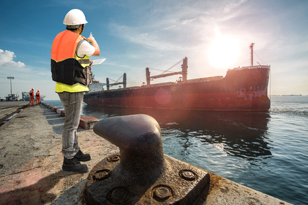 The agent supervisor representative keep in touch to the parties by on line report the status of the ship vessel after completed operation in port terminal, the departure provide by mooring gang