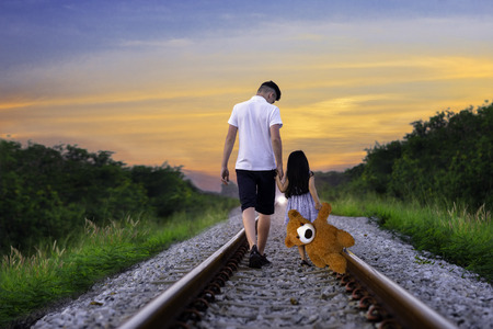 Brother and sister are running way from home without destination, both scare and feel lonely ahead of the way