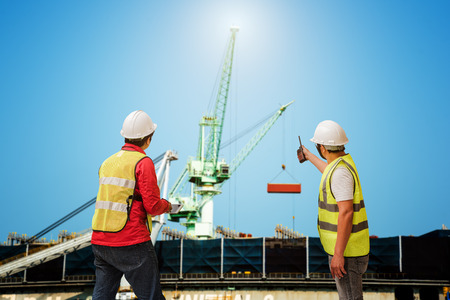 engineering foreman, supervisor, master controller in working place, command working area for safety and security method of route regulation