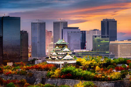 Osaka castle stay in the middle of the develops city in the season change of autumn, upcoming sport event in Japan, visit and travel in Japan, Sport Event, Travel Japan