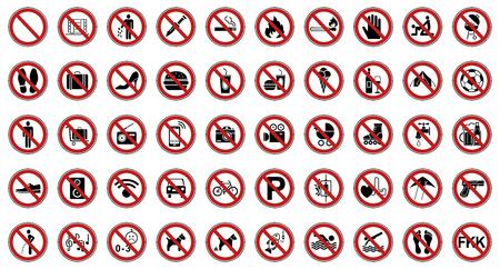 prohibition sign Imagens - 117800240