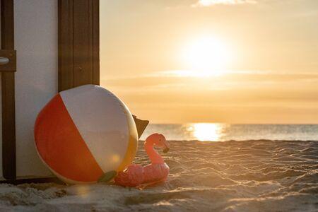 Beach Chair - Sunset - Sunrise Stock Photo
