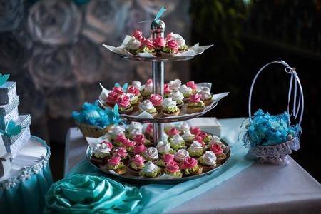 sugarpaste: wedding cakes Stock Photo