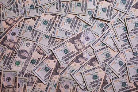 millonario: fondo del dinero, billetes de veinte dólares de cara laterales frontales, laterales hacia atrás. fondo de dólares, millonario, enriquecerse, se les paga
