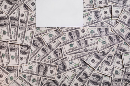 bil: hundred dollar bills front side. background of dollars, old hundred-dollar bil face, motivation, success, you can be rich copyspace, a place for an inscription, money background,  place for text Stock Photo