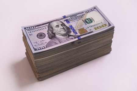heap, stack money, hundred dollar bills front side. background of dollars, new hundred-dollar bil face, the evolution of the bill in one hundred dollars, fan of money, millionaire