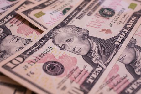 alexander hamilton: prezzo di sfondo, Primo Ministro del Tesoro Alexander Hamilton sul biglietto da cento dollari, il padre del dollaro, dieci-fattura faccia, lo sfondo di denaro