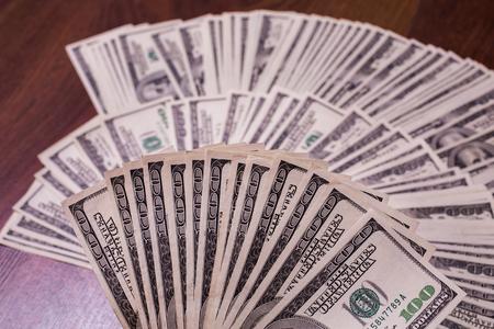 money pocket: fan of money, a fan of new hundred dollar bills, hundred dollar bills face, thirst for wealth, detail, renting, pocket money, money background, Millionaire, money in hand, taking money