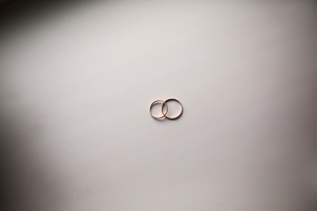 wedding bands: infinity sign of the rings, wedding rings on a white background,wedding bands