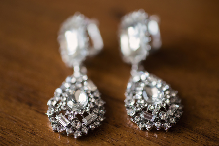brilliant: bride earrings macro