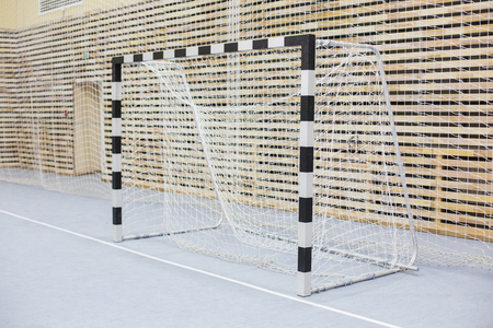 Gates for mini football. Hall for handball