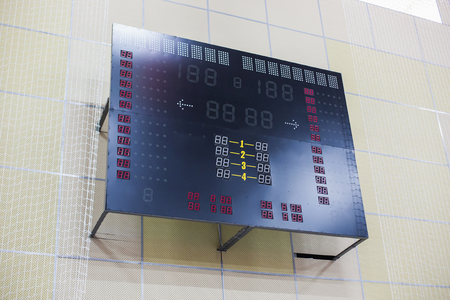 Empty digital information board in the stadium 스톡 콘텐츠