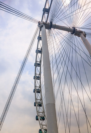 ferriswheel: The Singapore Flyer is a giant Ferris wheel in Singapore.