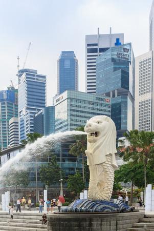 comercial: El símbolo de Singapur Foto de archivo