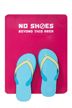 disallow: isolated no shoes sign on white background