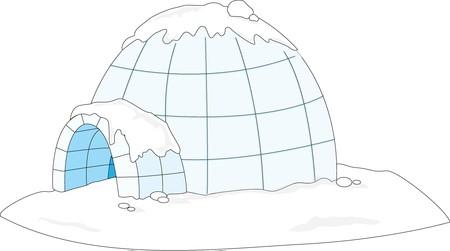 igloo illustration of a white background Stock Photo