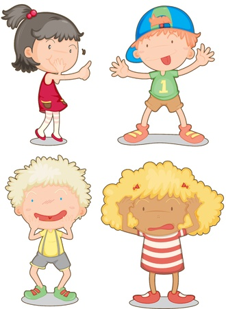 illustration of a kids on a white background Stock Vector - 13059600