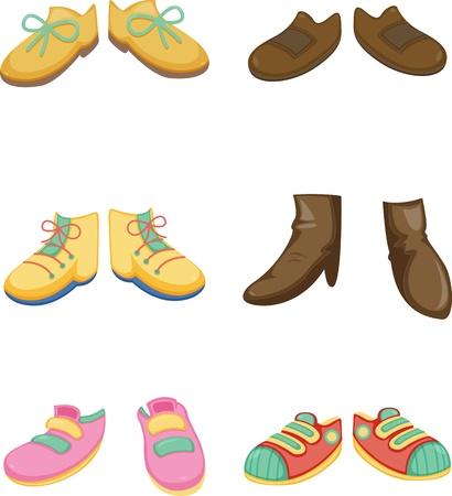ilustración de un calzado sobre un fondo blanco