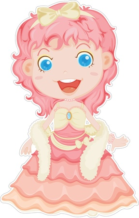 illustration of doll on a white background Vector