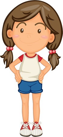 jovenes: ilustraci�n de una chica sobre un fondo blanco