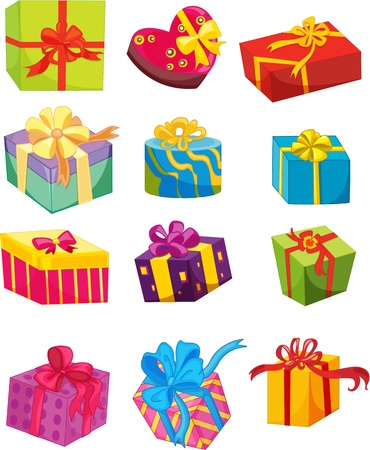 illustration of a gift boxes on a white background Vector