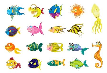 魚のコレクションのイラスト